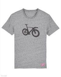 T-Shirt Triathlon Bike Chrono - Gris Chiné - Col Rond