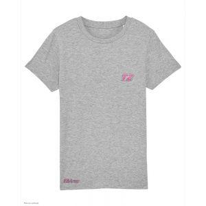 T-Shirt Triathlon Enfant T2 - Gris Chiné