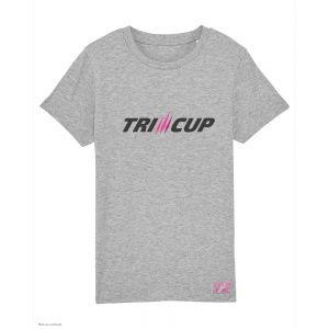 T-Shirt Triathlon Enfant TRI-CUP - Gris Chiné