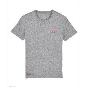 T-Shirt Triathlon T2 - Gris Chiné - Col Rond